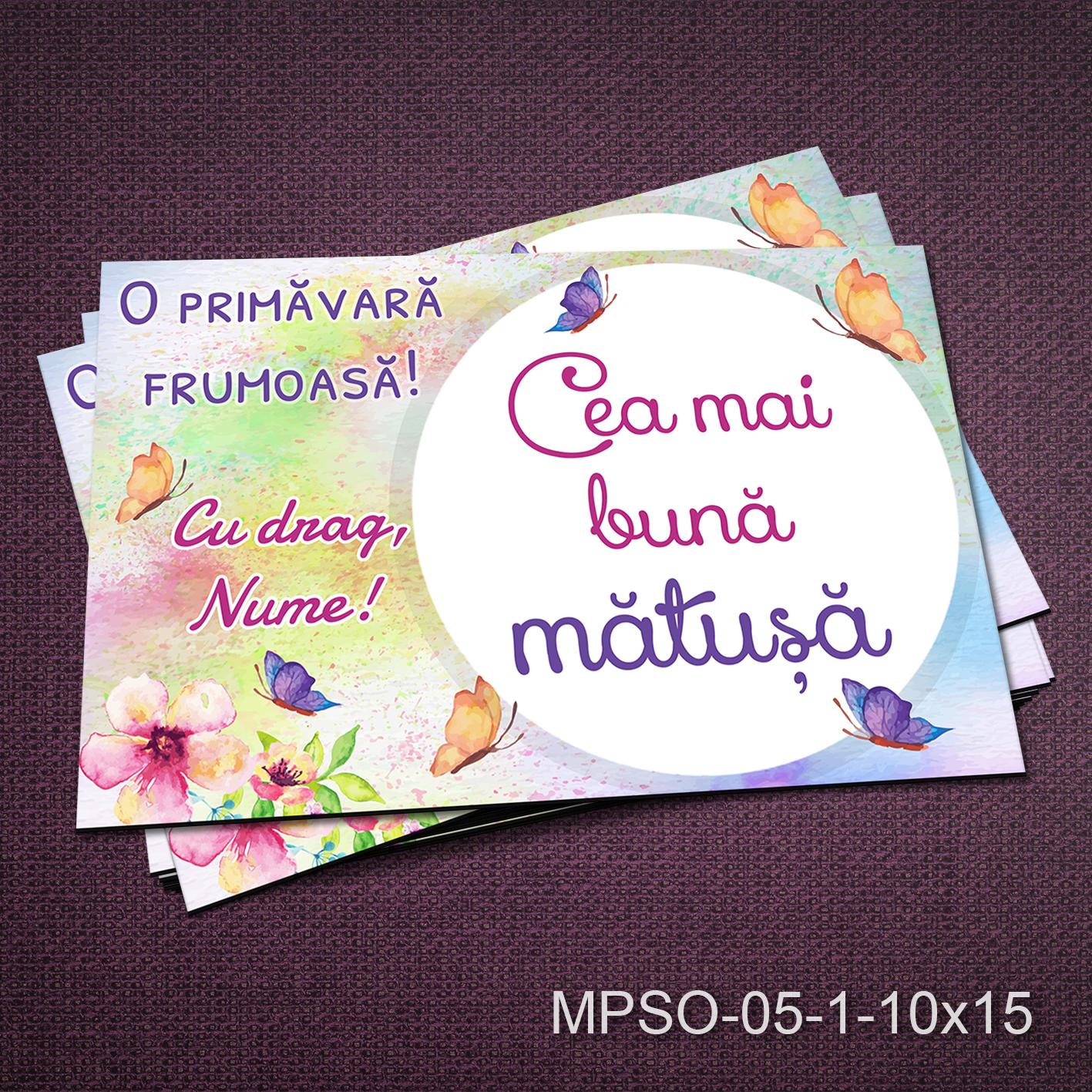 Felicitare magnetica - cea mai buna matusa - MPSO-05-1-10x15