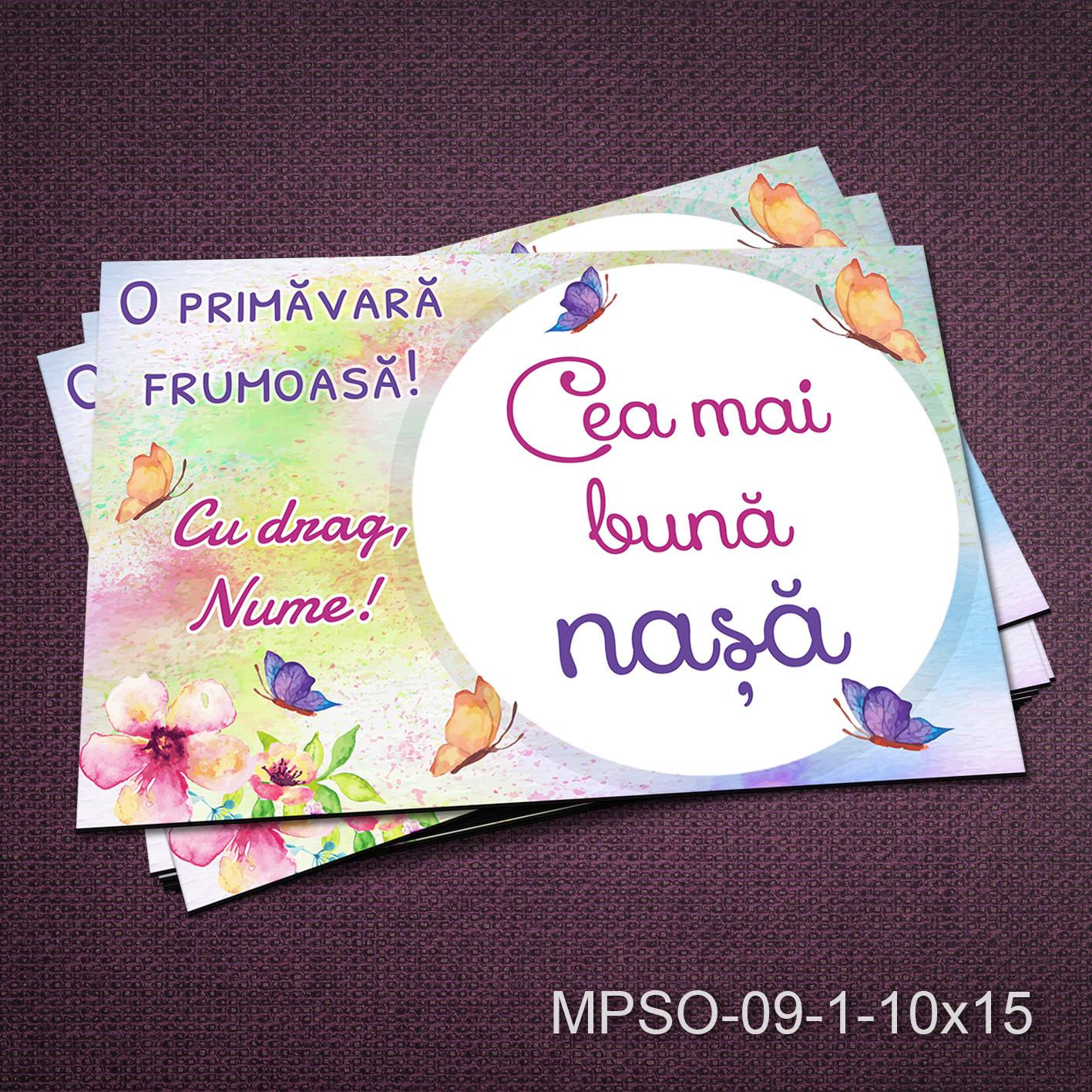 Felicitare magnetica - cea mai buna nasa - MPSO-09-1-10x15