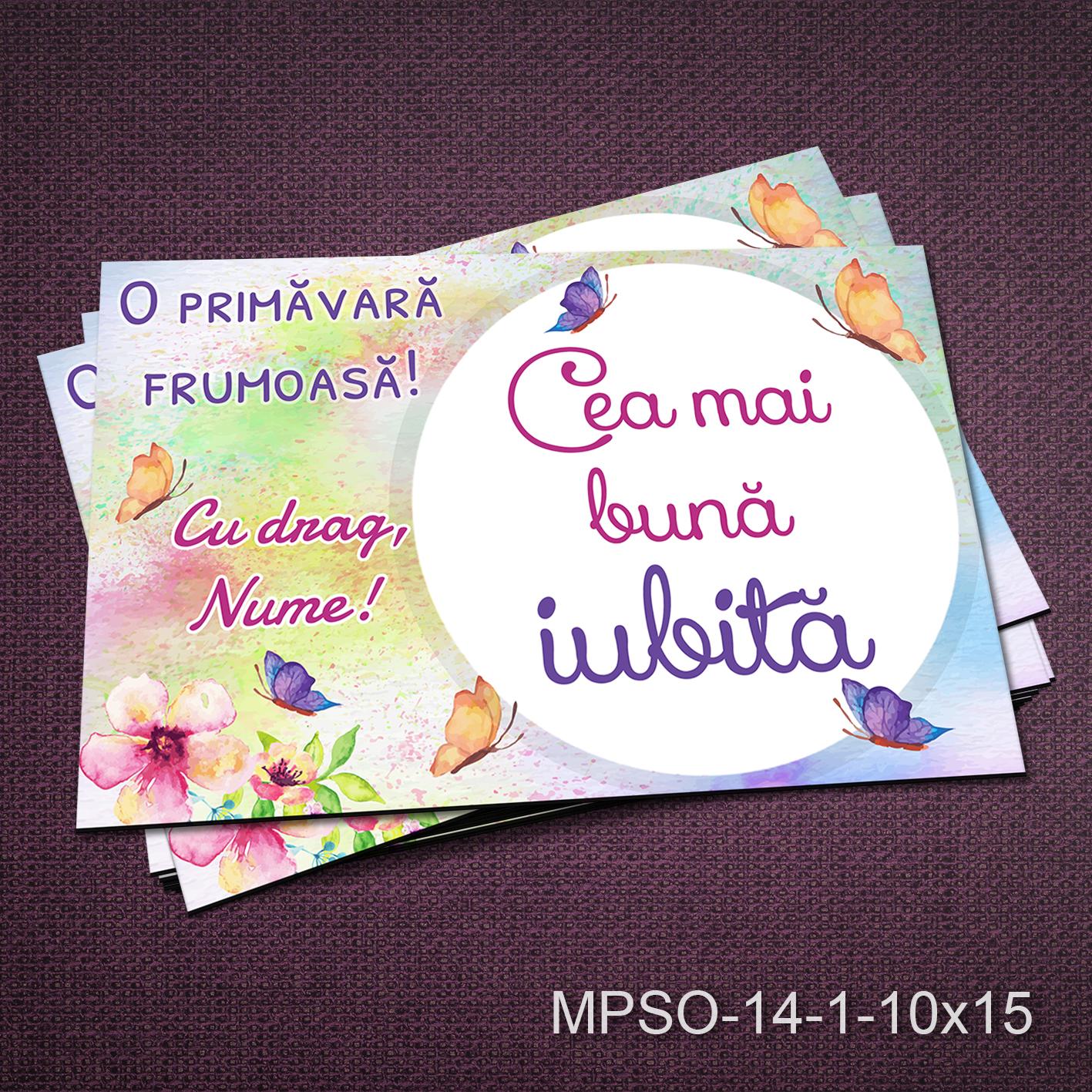 Felicitare magnetica - cea mai buna iubita - MPSO-14-1-10x15